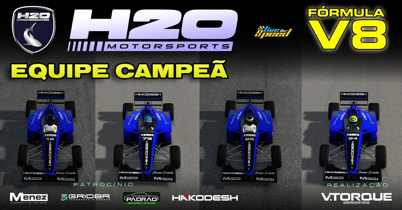 H2O MotorSports, equipe campeã do Fórmula V8 Banner_fv8_equipe