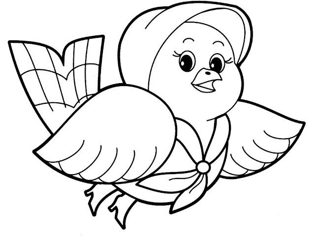 tranh tô màu động vật cho bé tập tô màu 9