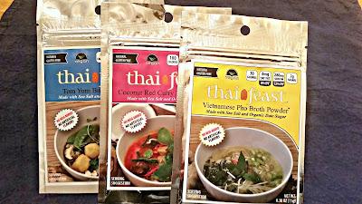 An assortment of Thai Feast sauce mixes