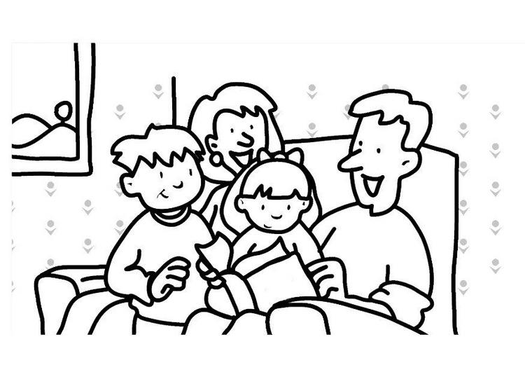 Dibujos del día de la familia para colorear ~ Dibujos para