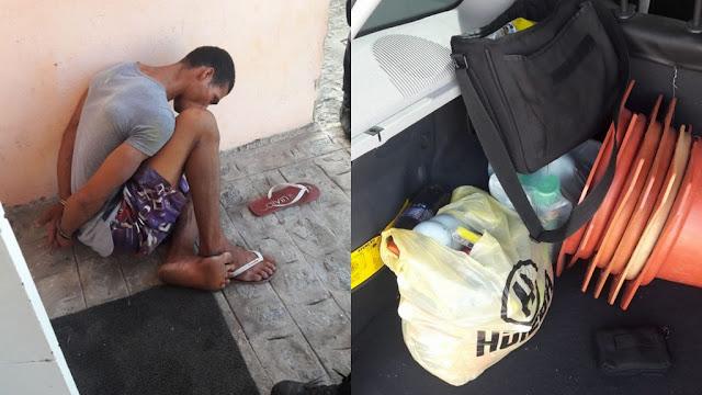 Homem é preso após ser flagrado arrombando unidade da prefeitura de Aracaju