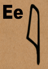 image E in hieroglyphics