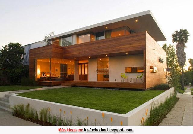 Fachadas de madera fachadas de casas y casas por dentro - Casas de madera por dentro ...
