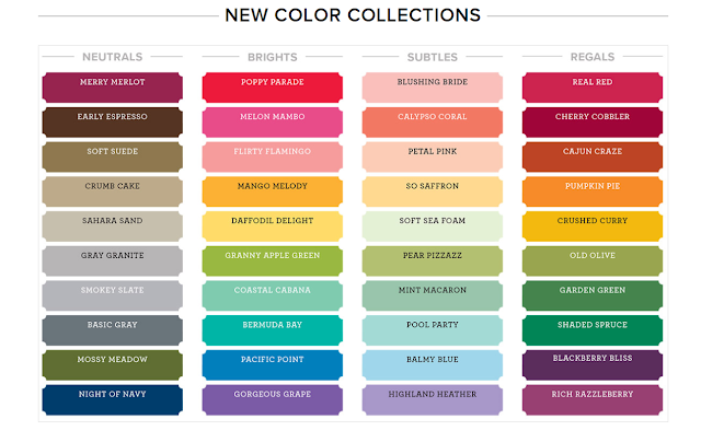 Stampin'Up! Color Collection 2018