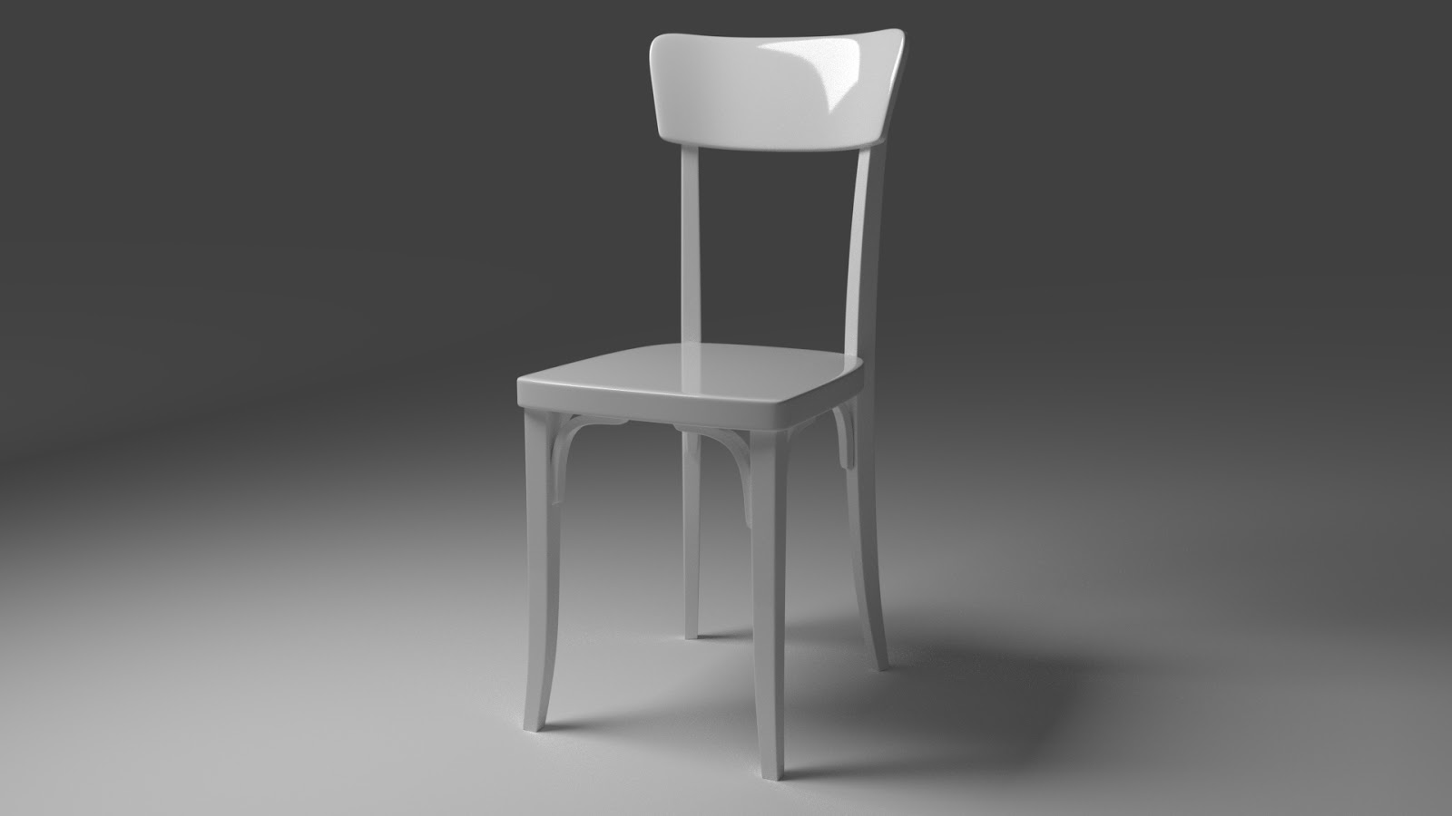 Free 3D White Classic Chair .blend file