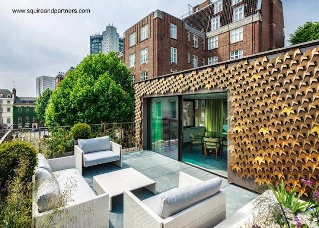 Terraza de una residencia original en Mayfair - Londres