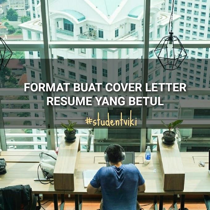 Format Menulis Cover Letter Dengan Betul