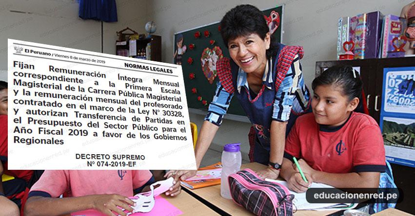 MINEDU: Cerca de 400 mil docentes tendrán incremento de remuneraciones entre S/. 100 y S/. 253 desde marzo - www.minedu.gob.pe