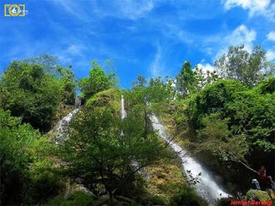 keindahan air terjun sri gethuk yang menawan