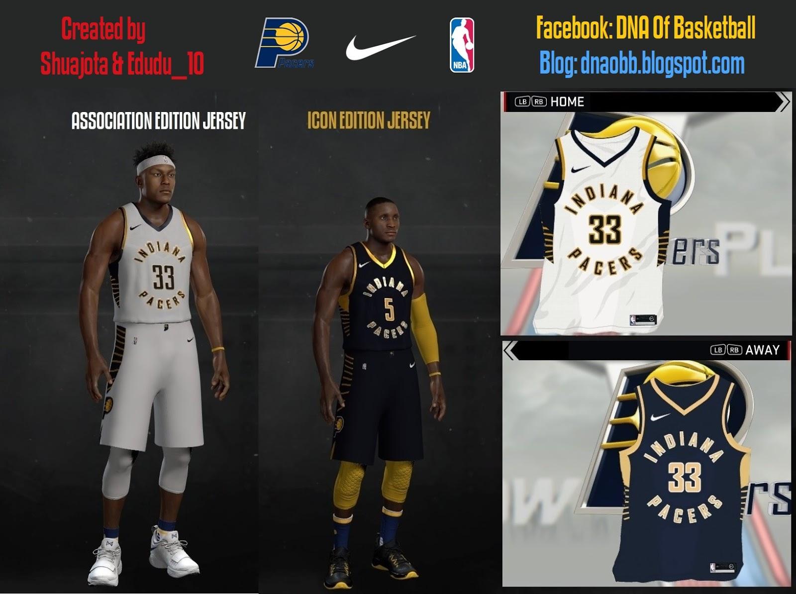 c7ac8d947418 NBA 2K17 Indiana Pacers Jerseys 2017-2018 by Shuajota   Edudu 10. Shuajota  2 years ago NBA 2K17 Jerseys
