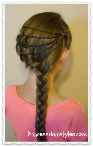 shooting star braid hairstyle tutorial