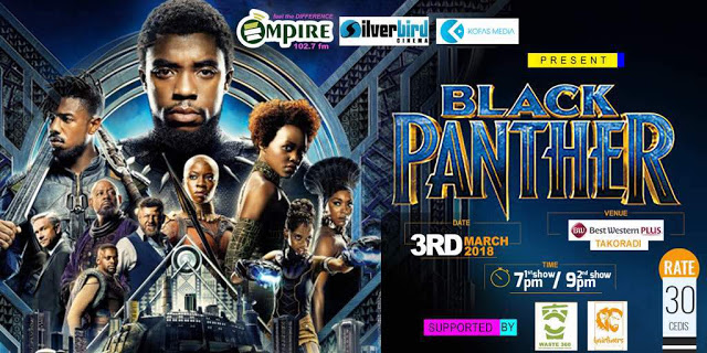 Empire FM, Silverbird Cinemas And Kofas Media To Screen 'Black Panther' In Takoradi