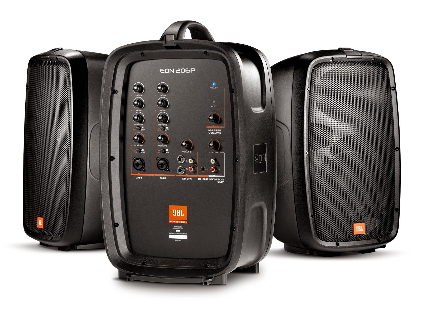 harman s jbl professional eon 206p portable pa system. Black Bedroom Furniture Sets. Home Design Ideas
