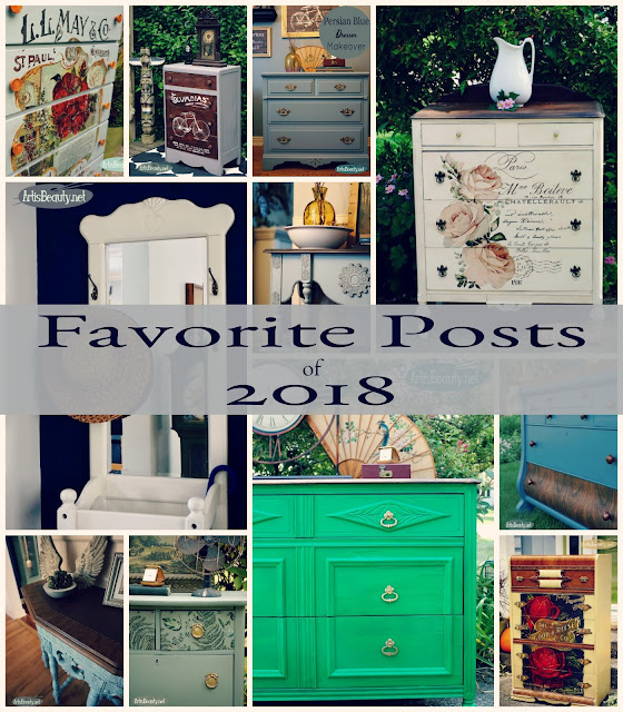 Favorite furniture makeover posts of 2018 karin chudy artisbeauty.net diy before and after painted furniture upcycled refinished refurbished do it yourself