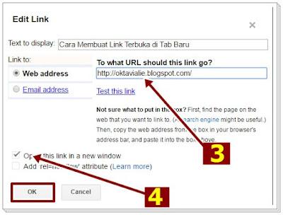 Cara Membuat Link Agar Terbuka di Tab Baru Blog