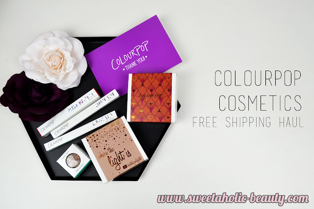Colourpop Cosmetics Free Shipping Haul - Sweetaholic Beauty