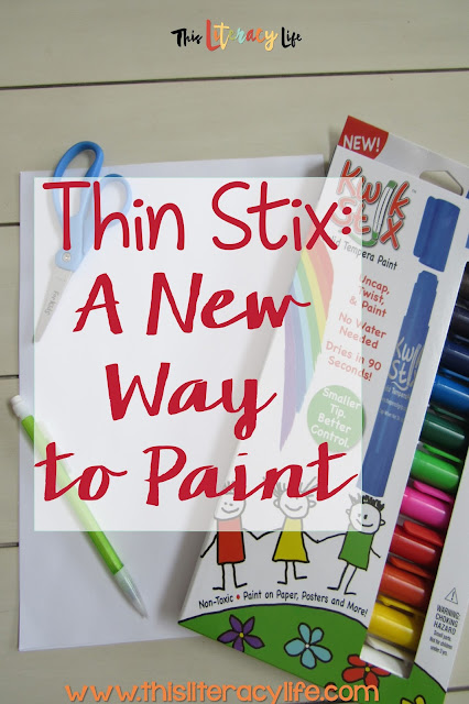 Thin Stix are perfect for helping children paint with precise lines and can even be used for writing fun!