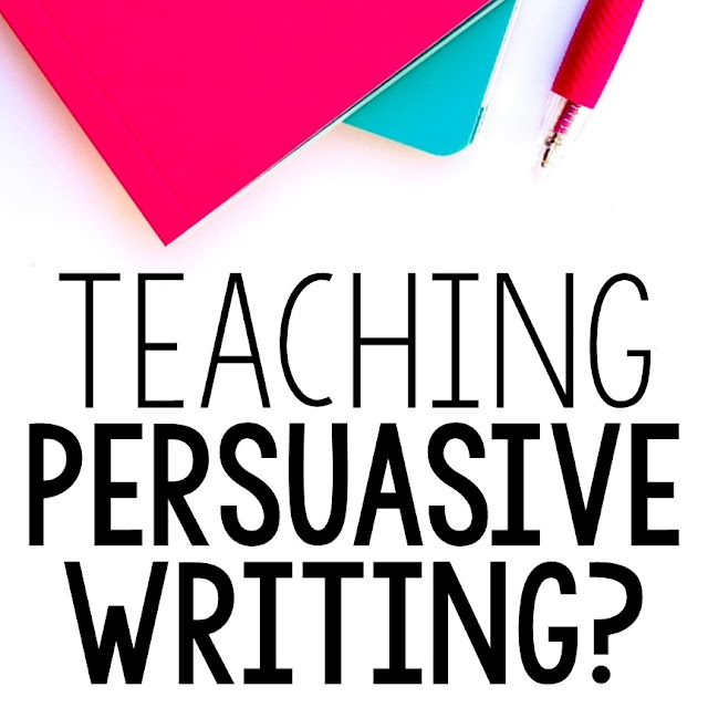 Persuasive writing lesson ideas for grades 5, 6, 7, and 8.