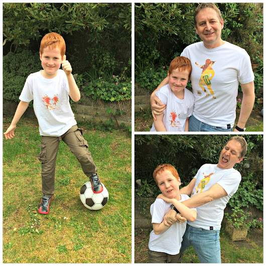 Win Football Artwork T-Shirts For Dad & Child From Art of Football