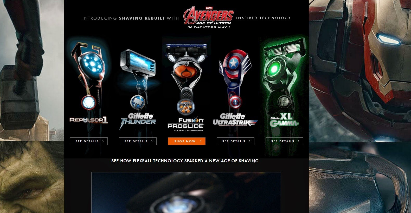 los vengadores the avengers gillette