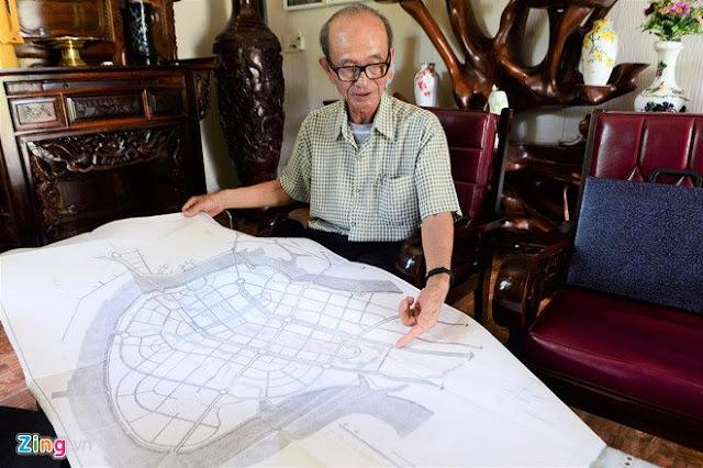 Nguyên Chủ tịch UBND TP.HCM Võ Viết Thanh trình ra bản đồ 1/5.000 của khu đô thị Thủ Thiêm.