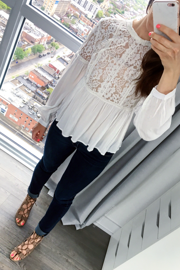 Affordable Lace Top - Spring Outfit Idea - Tori's Pretty Things Blog