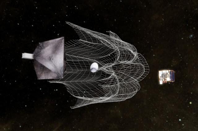 Simulação da nave que pode limpar o universo