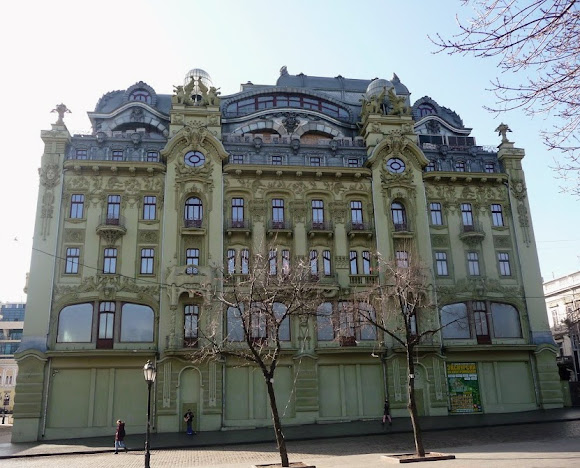 Одесса. Дерибасовская ул. Гостиница «Большая Московская»