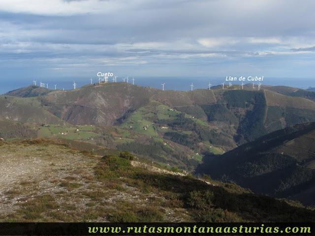 Pico Cueto y Llan de Cubel desde Aguión