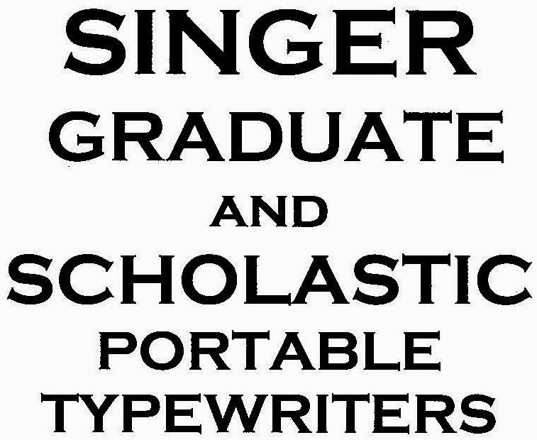 oz.Typewriter: Graduating with Honours: Singer Portable
