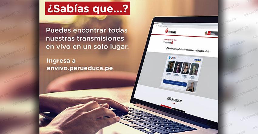 PERUEDUCA: Encuentra todas las transmisiones de los webinars pedagógicos y socioemocionales en el portal www.perueduca.pe