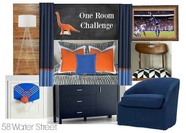 boys room, design, decorating, ikea bedding, mid century modern