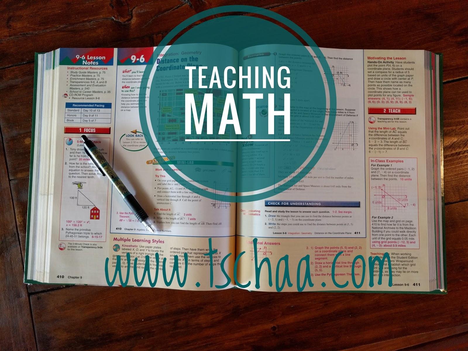 TSCHAA: Teaching Math