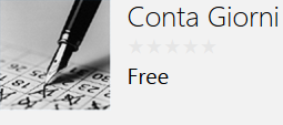 MI SERVE UN'APP WINDOWS PHONE CHE MI CONTA I GIORNI CHE PASSANO