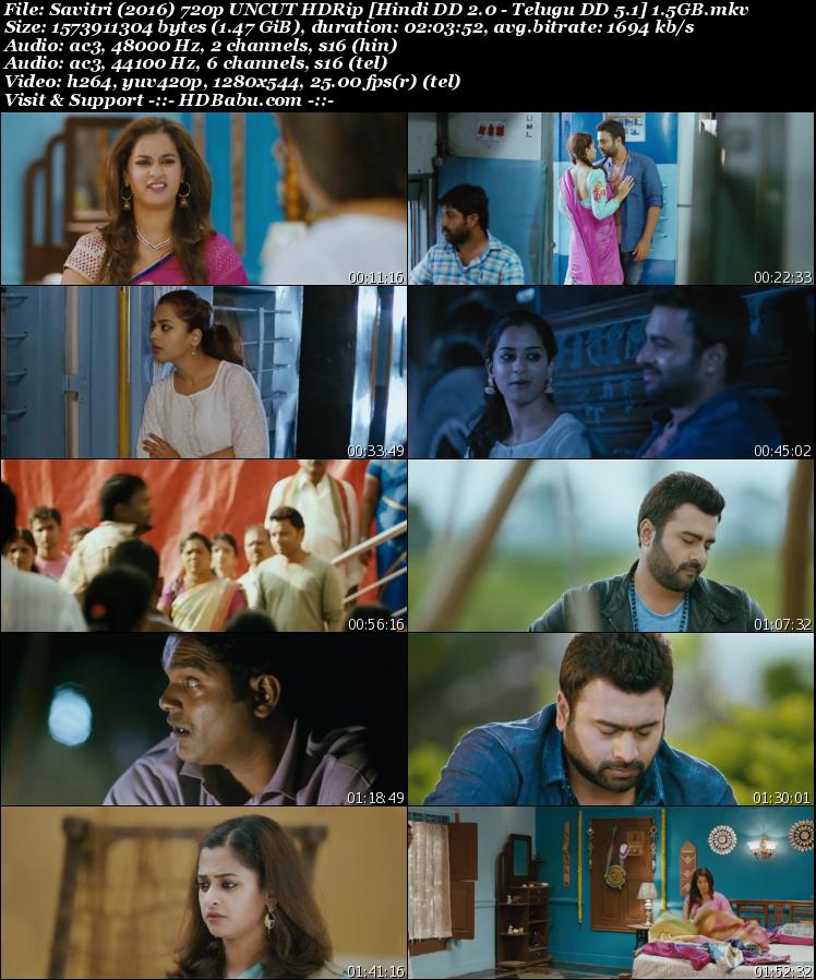 Savitri Hindi Dual Audio Full Movie Download, Savitri (2016) 720p UNCUT HDRip [Hindi DD 2.0 - Telugu DD 5.1] 1.5GB Download HD MKV MP4 Torrent Direct Single Download Links