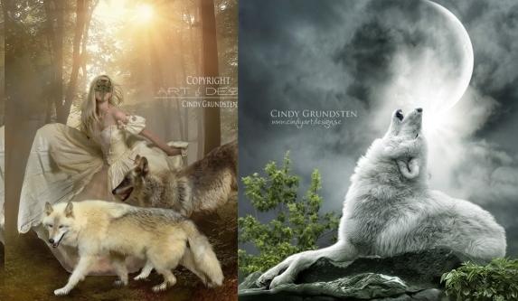 Enchanted Fantasy Wolf Digital Art Of Cindy Grundsten Photos Video