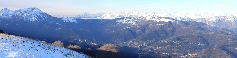 View north from Monte Linzone over Valle Imagna
