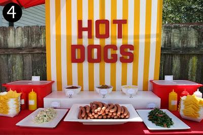 Resultado de imagem para decoração de festa  estação gastronômica hot dog
