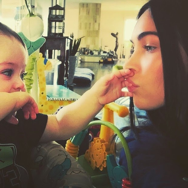 Megan Fox put cute photo with the youngest son, Bodhi