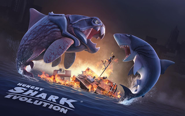 تحميل Hungry Shark Evolution v4.2.0 مهكرة للاندرويد