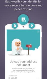 Skrill app easily verify your identity