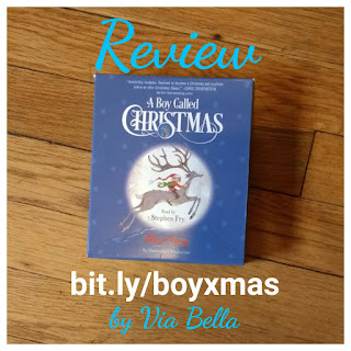A Boy Called Christmas, Audiobook, blogging for books, book review, via bella