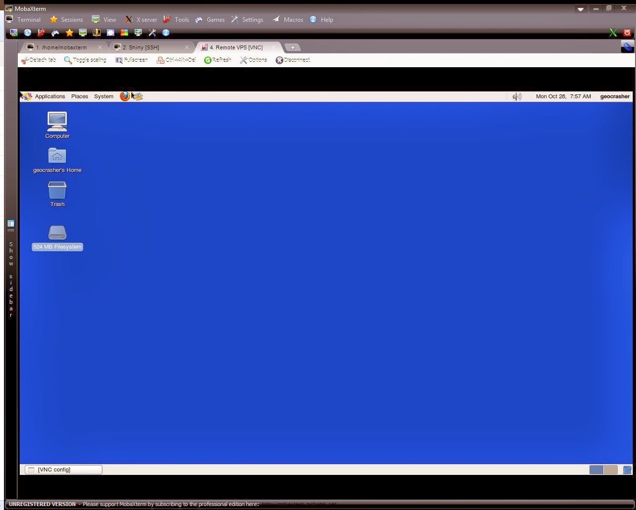Creating a Remote GNOME desktop with VNC on CentOS 6 for