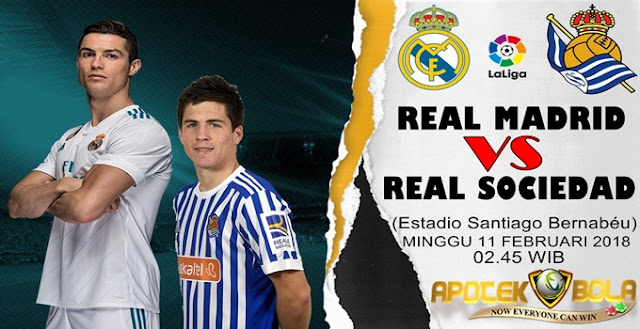 Prediksi Real Madrid vs Real Sociedad 11 Februari 2018