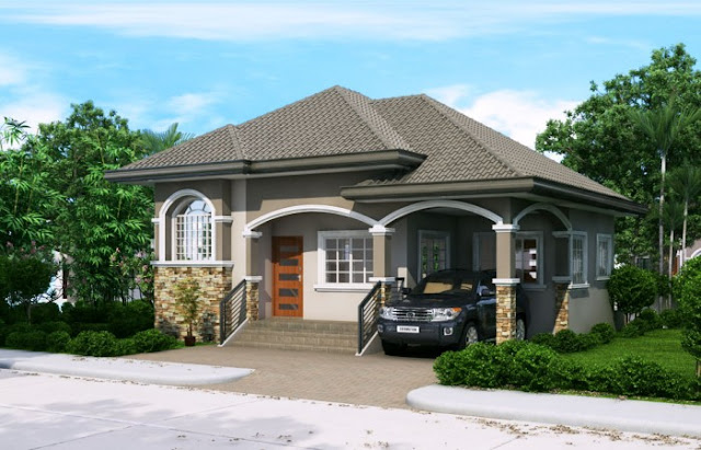 The garage can accommodate 1 car small dining and kitchen and one common toilet and bath house plan details