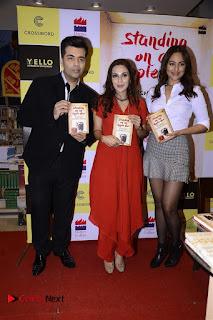 Sonakshi Sinha Karan Johar at Aishwarya Rajinikanth Standing on an Apple Box Book Launch Event  0002.jpg
