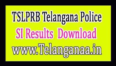 TSLPRB Telangana Police SI Results