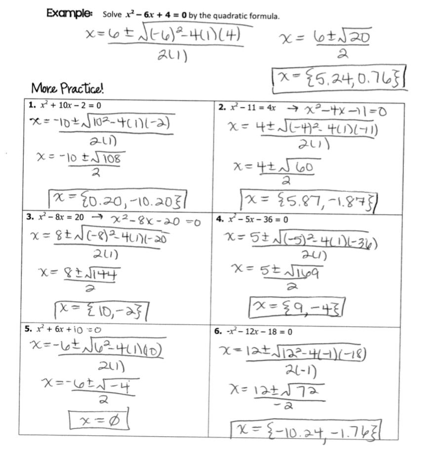 Quadratic equations homework help