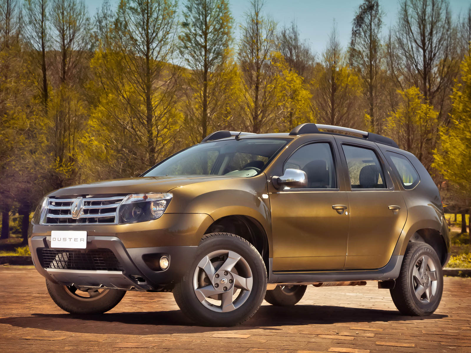 Autumn Flowers Wallpapers Renault Duster Car