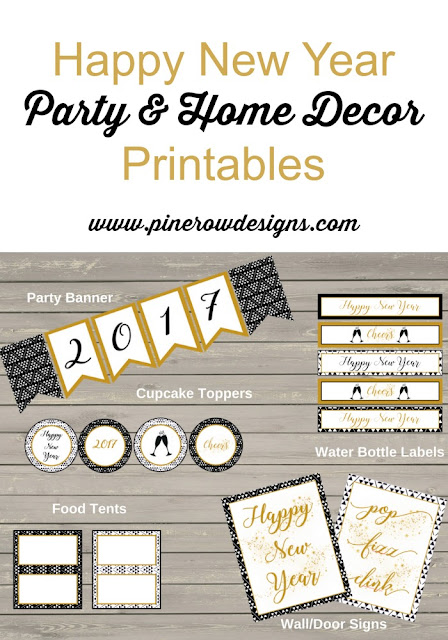NYE party printables, nye party decorations, nye party ideas